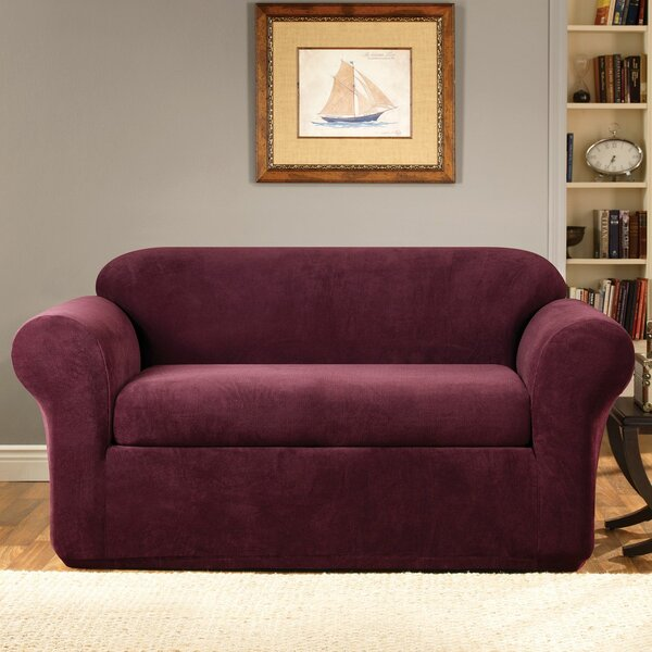 Stretch Metro Box Cushion Loveseat Slipcover by Sure Fit