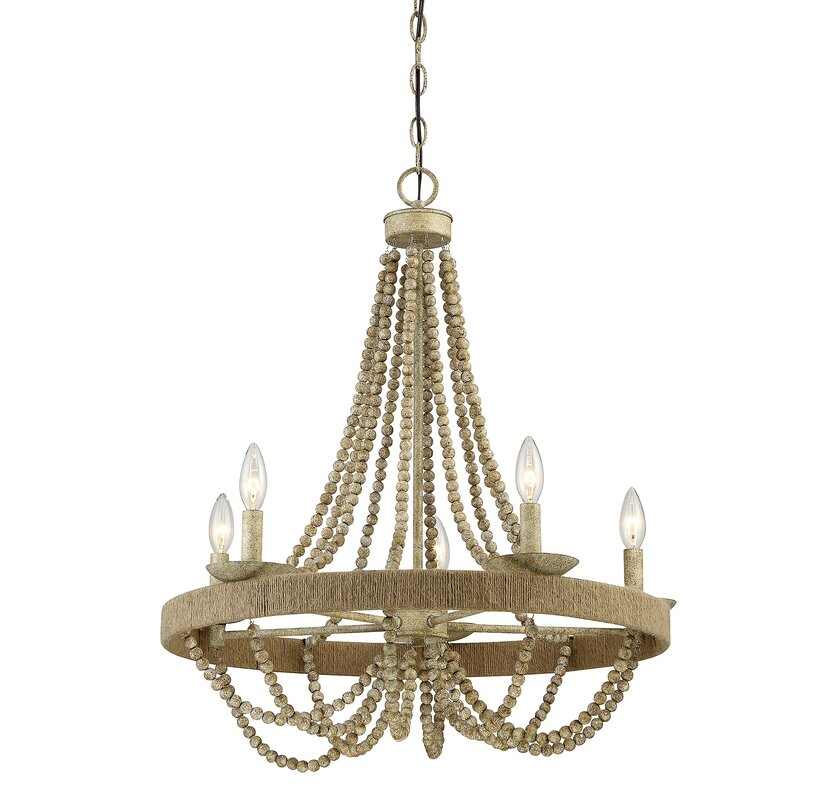 Woolsey 5 light candle style chandelier reviews joss main woolsey 5 light candle style chandelier aloadofball Images