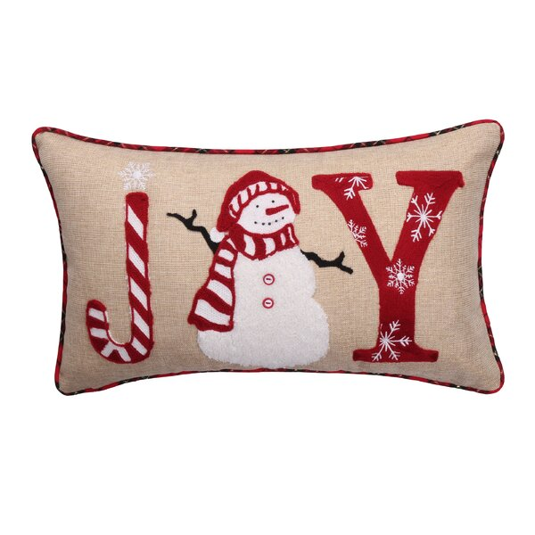 Joy Snowman Lumbar Pillow by The Holiday Aisle