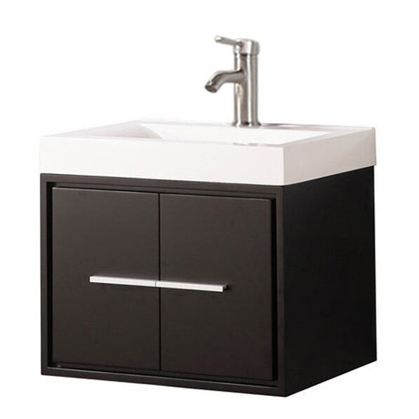 Peirce Wall Mounted Modern 24 Single Bathroom Vanity Set by Orren Ellis