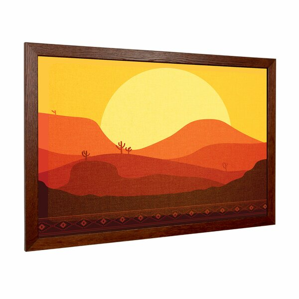 Desert Sunset Wall Mounted Bulletin Board by New York Blackboard