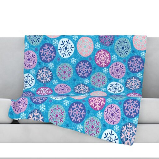 Floral Winter Throw Blanket by KESS InHouse