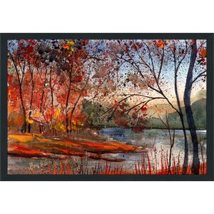 Autumn Lake Framed Painting Print by Picture Perfect International