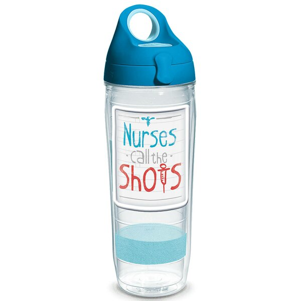 Celebrate Life Nurses Call the Shots 24 oz. Plastic Water Bottle by Tervis Tumbler