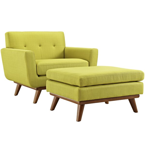 Johnston Club Chair and Ottoman by Langley Street Langley Street™