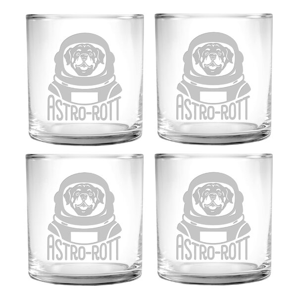 Astro Rott Slim Old Fashioned Glass (Set of 4) by Susquehanna Glass