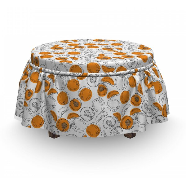 Juicy Slices Ottoman Slipcover (Set Of 2) By East Urban Home
