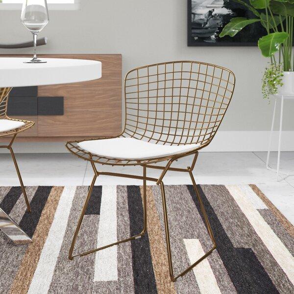 Emborough Gold Wire Dining Chair by Brayden Studio