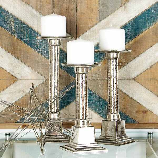 3 Piece Metal Candlestick Set by Cole & Grey