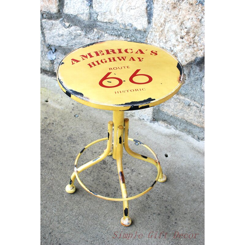 AttractionDesignHome Route 66 Stool   Wayfair