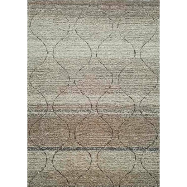 Pecoraro One-of-a-Kind Hand-Tufted Beige/Gray Area Rug by Brayden Studio