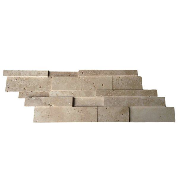 Honed Natural Stone Mosaic Tile in Brown