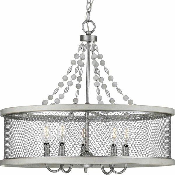 Millsaps 5 - Light Shaded Drum Chandelier by 17 Stories 17 Stories