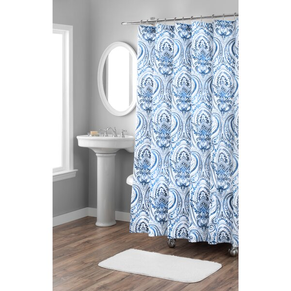 Melina Cotton Shower Curtain by Nicole Miller