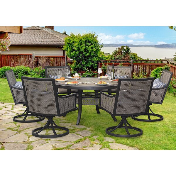 Bently 7 Piece Dining Set by Sunjoy