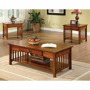Best Reviews Barberry Elegantly Designed 3 Piece Coffee Table Set ByCanora Grey
