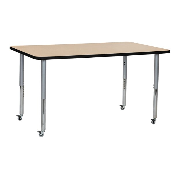 Maple Contour Thermo-Fused Adjustable 60 x 36 Rectangular Activity Table by ECR4kids