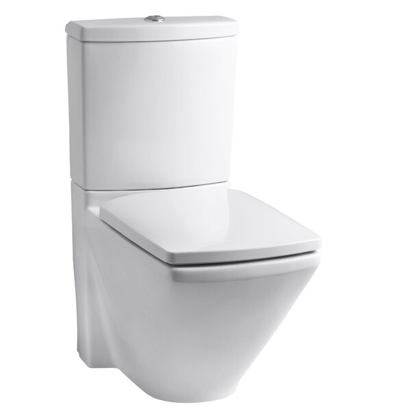 Escale Skirted Two-Piece Elongated Dual-Flush Toilet with Top Actuator by Kohler