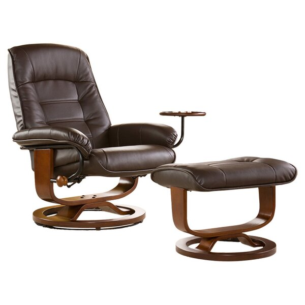 Gibsonburg Ergonomic Manual Recliner with Ottoman