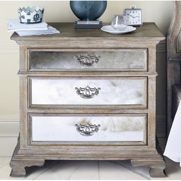 Campania Mirrored 3 Drawer Bachelors Chest by Bernhardt