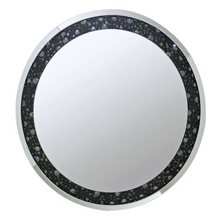 Rosdorf Park Blakes Round Mirrored Wall Accent Mirror