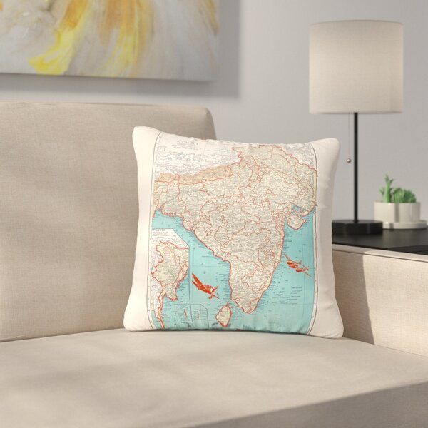 Catherine Holcombe Travel to India Outdoor Throw Pillow by East Urban Home