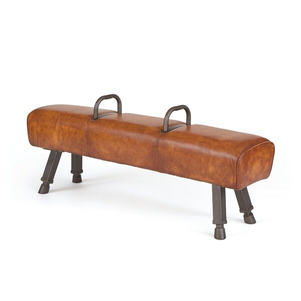 Dayanara Padded Faux Leather Bench by 17 Stories