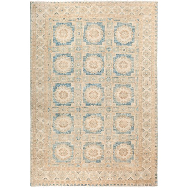 One-of-a-Kind Rosemary Hand Knotted Wool Beige Area Rug by Isabelline