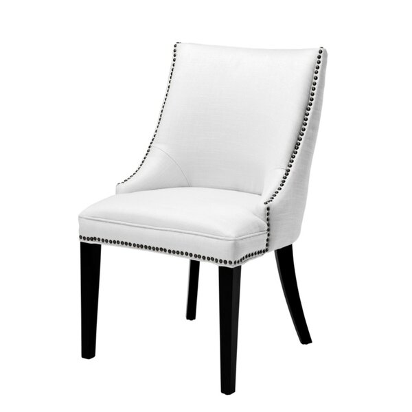 Bermuda Tufted Upholstered Solid Back Side Chair By Eichholtz