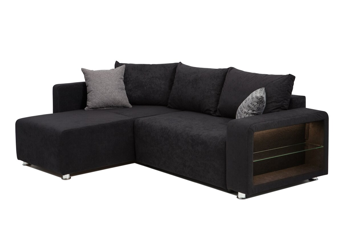 home haus ecksofa barmedman mit bettfunktion. Black Bedroom Furniture Sets. Home Design Ideas