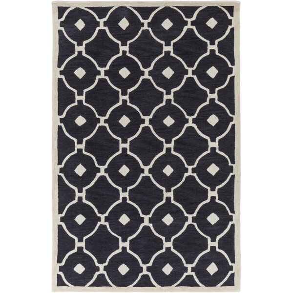 Kroeger Charcoal/Ivory Area Rug by Latitude Run