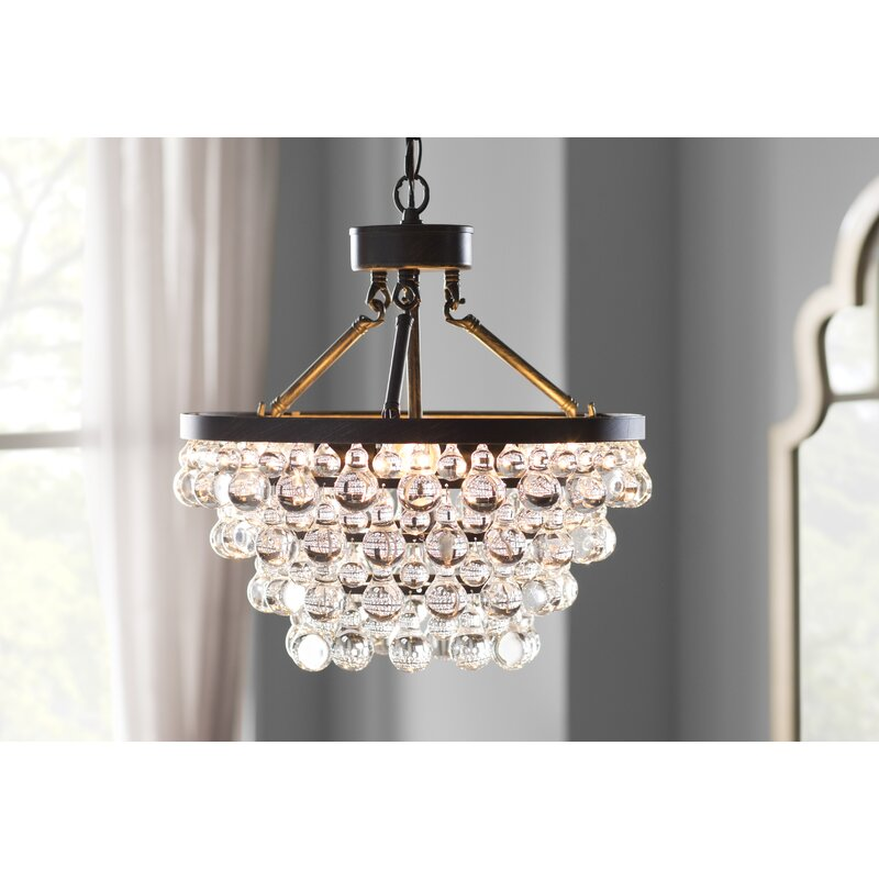Mcmillen 5 Light Crystal Chandelier House of Hampton