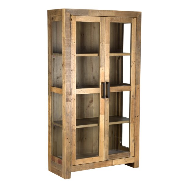 Abbey Solid Curio Flat Back Cabinet by Mistana