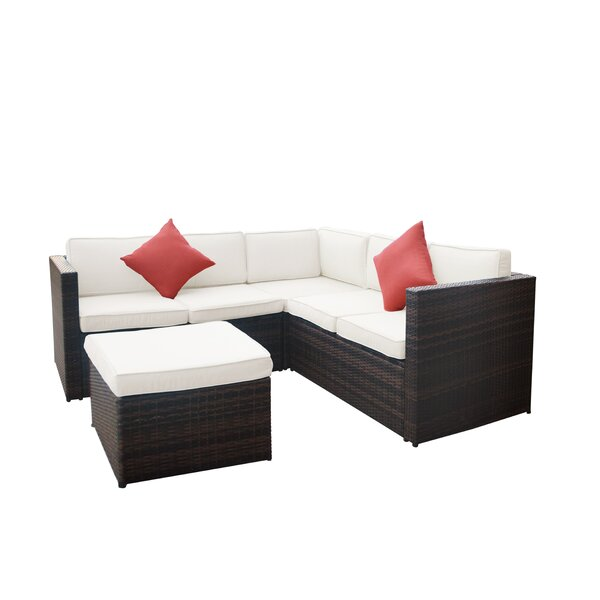 Lilith Patio Sectional with Cushions by Highland Dunes