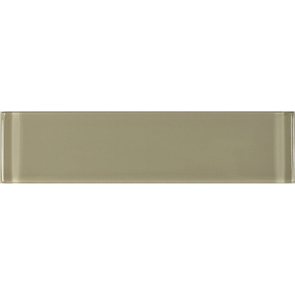 Metro 3 x 12 Glass Subway Tile in Taupe by Abolos