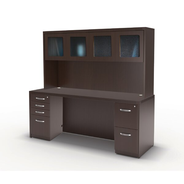 Aberneen Series Executive Desk with Hutch by Mayline Group