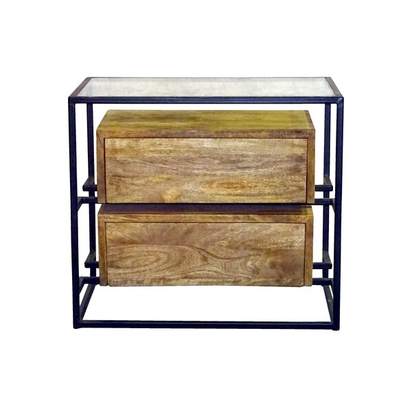 Sonia 2 Drawer Nightstand by Union Rustic