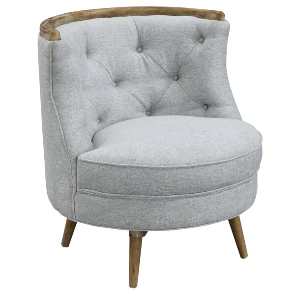 Mckoy Swivel Slipper Chair by George Oliver