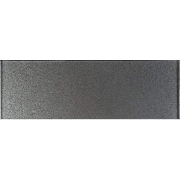 4 x 12 Glass Tile in Metallic Gray by MSI