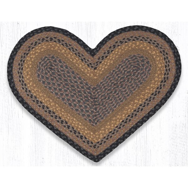 Braided Brown/Black Area Rug by Earth Rugs