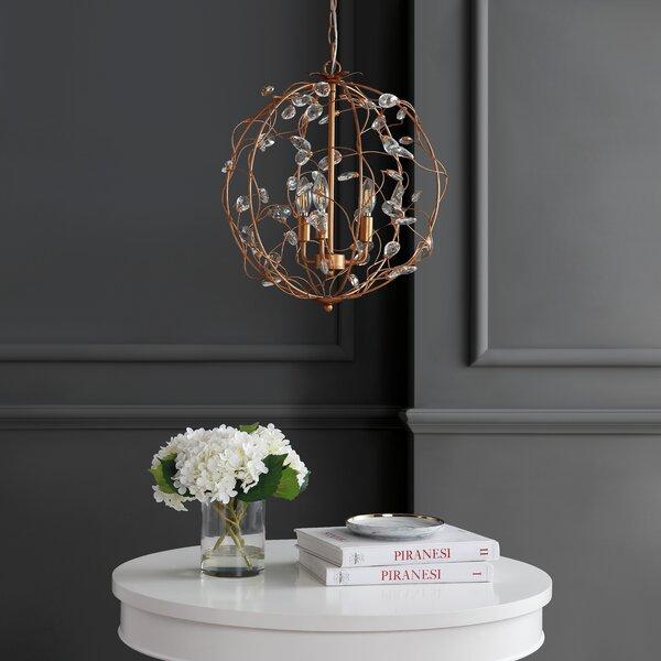 Antonucci 3 - Light Unique / Statement Globe Chandelier By House Of Hampton