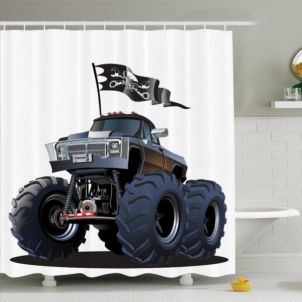 Myaa Monster Truck Pirate Shower Curtain Set by Latitude Run