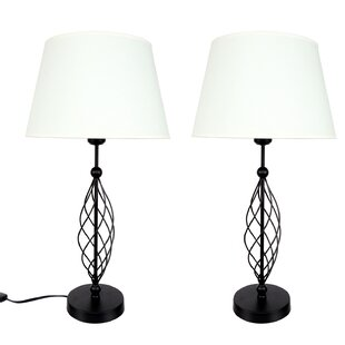 Best Price Wire Swirl 25.5 Table Lamp (Set of 2) By DEI