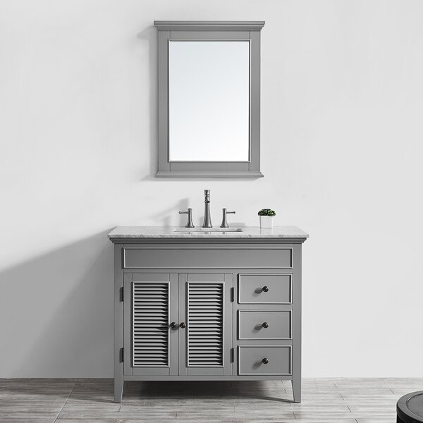 Grovetown 42 Single Bathroom Vanity Set with Mirror by Laurel Foundry Modern Farmhouse