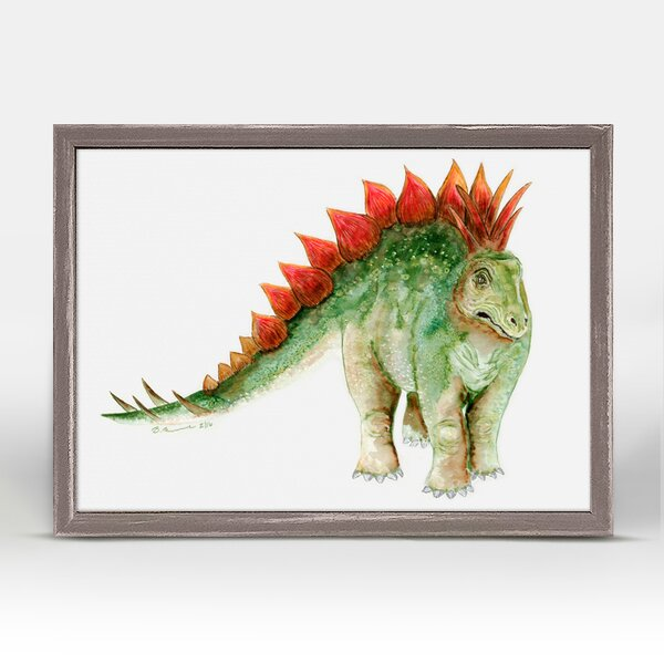 Dinosaur Portrait - Stegosaurus by Brett Blumenthal Mini Canvas Framed Art by Oopsy Daisy