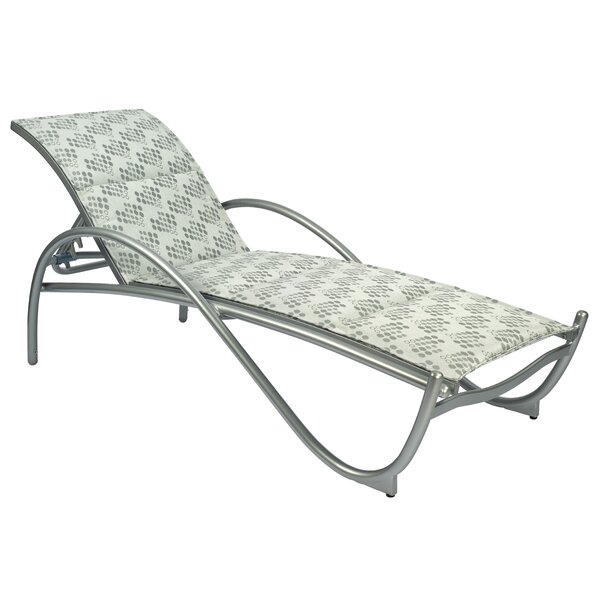 Tribeca Reclining Stacking Chaise Lounge by Woodard