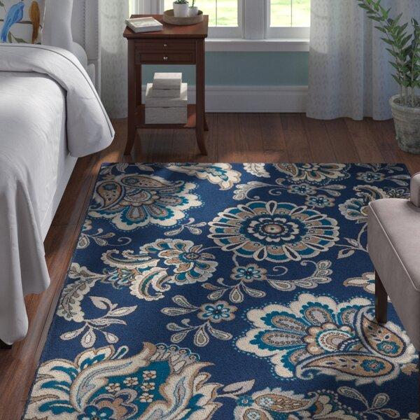 Tremont Blue Area Rug By Andover Mills.