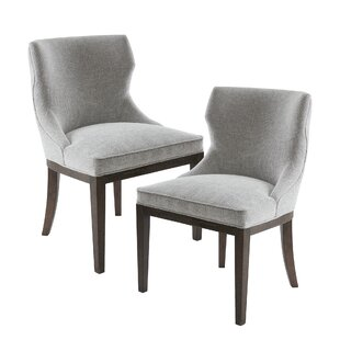 Find Hutton Upholstered Dining Chair (Set of 2) Best reviews