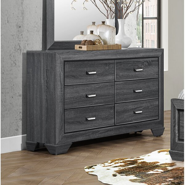 Henry 6 Drawer Double Dresser by Loon Peak