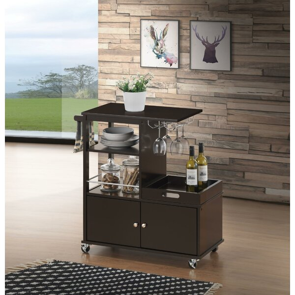 Rushton Kitchen Cart by Canora Grey